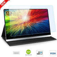 """15.6"""" 4K HDR Portable Monitor IPS 3840x2160 for 2*USB C For Laptop Phone &Gift"""