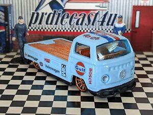 HOT WHEELS VW VOLKSWAGEN T2 PICKUP CUSTOM GULF LOOSE 1/64 SCALE