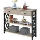 3-Tier Sofa Console Table with Drawer for Living Room Entryway Table for Hallway