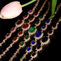 Fashion Gold Plated Crystal Rhinestone Women Bracelet Chain Bangle Jewelry