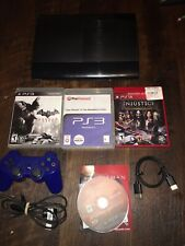 Sony PlayStation 3 PS3 250GB Super Slim Console Bundle 20 Games + 1 Controllers