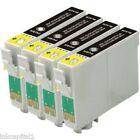 4x Negro Cartuchos de inyección tinta no-oem alternativa para Epson 27xl-T2711