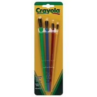 Crayola Paint Assorted Brushes 4 ea (Pack of 3)