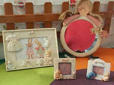 lot déco chambre enfant 2 cadres photo winnie,1 miroir,1 cadre photo CATIMINI