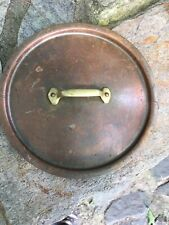 Vintage Copper Sauce Pot Tin Lined Lid Only 7 1/2""