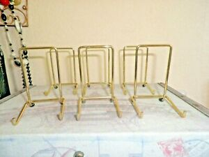 6 TOP QUALITY BRASSED PLATE STANDS  size 2