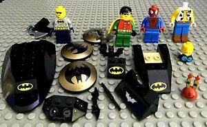 LEGO Batman & Robin Mini-Figures & Parts, Spiderman, Woody, Mr Krabs + Series 14