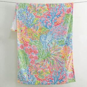 "Pool Party! Lilly Pulitzer GWP BEACH TOWEL Multi Lovers Coral Size 30"" x 60"""