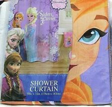"""Disney Frozen Friends Forever Polyester Microfiber Shower Curtain 70"""" X 72"""" NWT"""