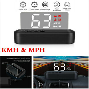 C100 OBD2 Hud Head-Up Display With Mirror Projection Digital Car Speed Projector