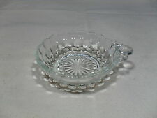 Vintage ~ Depression Glass~ Bubble Single Handle Bowl ~ Crystal