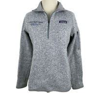 🔴 Patagonia Better Sweater Fleece1/4 Zip Sz S Company Logo Birch White STY25617
