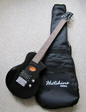 Hutchins Electro-Acoustic Travel Guitar Black With bag..
