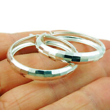 Hoops 925 Sterling Silver Circle Earrings in a Gift Box
