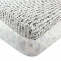 Hudson Baby Boy Fitted Crib Sheet, 2-Pack, Airplane
