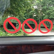 NO SMOKING/EATING/DRINKING STICKERS/SIGNS VIEW BOTH SIDES ON GLASS STICKER 46 MM