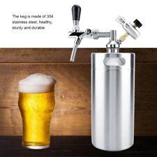 3,6L Edelstahl Fass Bier Growler Keg mit Wasserhahn Home brauen Mini Bierfass se