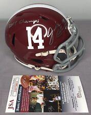 Jake Coker SIGNED Alabama Crimson Tide Football Mini Helmet w/ JSA COA