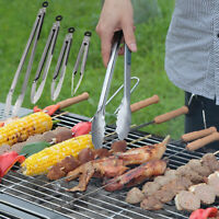 CW_ IG_ AF_ 9/12/16/16inch Stainless Steel BBQ Tongs Food Salad Buffet Grill Cli