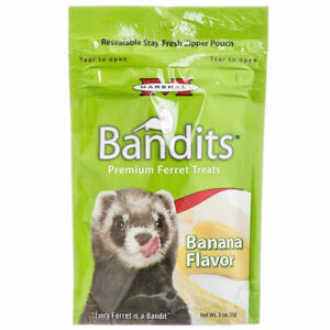 Marshall Pet Bandits Ferret Treat, Banana, 3oz (Free Shipping in USA)