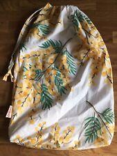 Cath Kidston x Mimosa Flower Drawstring Bedding Dust Bag cotton Fabric New c