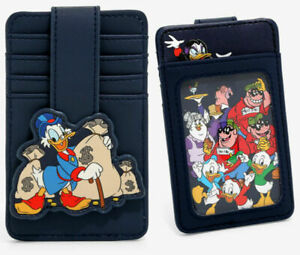 Disney DuckTales Group Cardholder Navy Blue New Faux Leather Scrooge McDuck