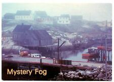Mystery Fog Postcard Peggy's Cove Nova Scotia Canada Water Boats Unposted Vtg