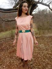 Vintage pink Pinup Dress Small rockabilly retro 1950s party dress viva boho cute