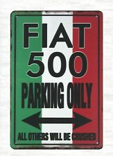 US Seller- art posters Flat 500 Parking Only All Others Will Be Crushed sign