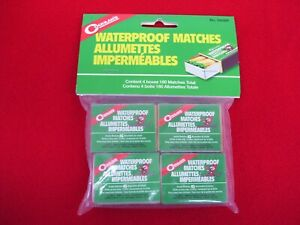 WATERPROOF MATCHES MATCH BOXES CAMPING FISHING OUTDOOR 180PCS COGHLAN'S