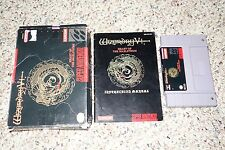 Wizardry V: Heart of the Maelstrom Super Nintendo SNES Complete In Box FAIR 5