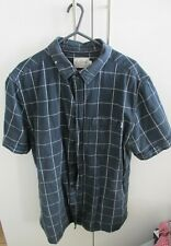 Onfire Navy Check Short Sleeve Shirt Mens Size Large