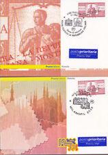 ITALIA 2003 - 2 Cartoline Filateliche  Montecitorio MILANOFIL - annulli figurati