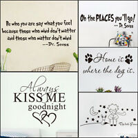 Quote Wall Sticker Art Vinyl Removable Home Decor Decal For Living Room Mural