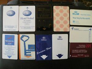 Lot 11 Télécartes HOTELS divers