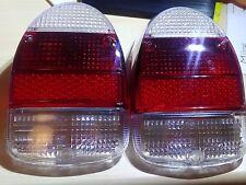 VW BUG Pair 2pcs EURO TAIL LIGHT LENS LENSES 1968-1970 White Red White Beetle