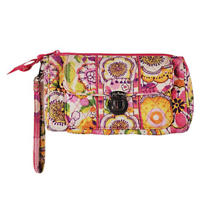 VERA BRADLEY Small Wristlet Wallet Purse PETAL PINK Clutch Bag VB3
