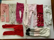 baby girl tights - size 2-6m, and 1-2 years. various