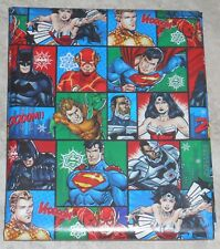 DC COMICS JUSTICE LEAGUE USA CHRISTMAS Wrapping PAPER 20 SQ FT FOLDED
