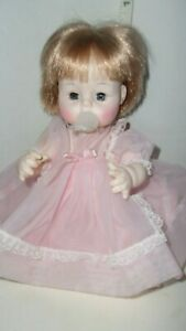 Madame Alexander Sweet Tears Doll 1965 with button dress and pacifier Excellent