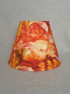 Orange Abstract Lamp Shade.