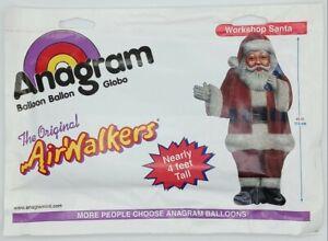 """Vintage 2002 Anagram """"WORKSHOP SANTA"""" Airwalkers 45"""" Balloon"""