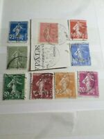 FRANCE LOT (B) timbres types SEMEUSE, oblitérés CACHETS RONDS VF STAMPS
