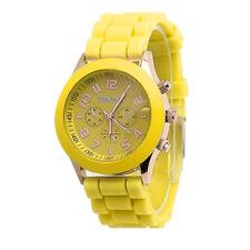 Unisex Chilidren Boys Girls Geneva Silicone Jelly Quartz Sport Wrist Watch Watch