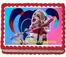 Harley Quinn Edible Cake Topper Image Decoration frosting icing sheet Party