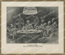A. Busch Tafelrunde HQ Ober-Ost Lötzen Hindenburg Ludendorff Wappen Giżycko 1916