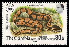 """GAMBIA 434 (SG462) - WWF Abuko Reserve """"Royal Python"""" (pf23014)"""