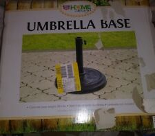 "HOME DESIGN CONCRETE UMBRELLA BASE 28.6 LBS. 13.7"" DIA X 14.5"" H BLACK   S-65"