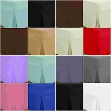 Deep Box Fitted Pleated Valance Sheets 100% Egyptian Cotton 200 THREAD COUNT