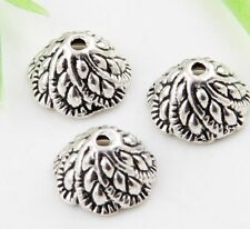 40pcs Tibetan Silver Flower Spacer Beads 10.5x5.5mm  (Lead-free)